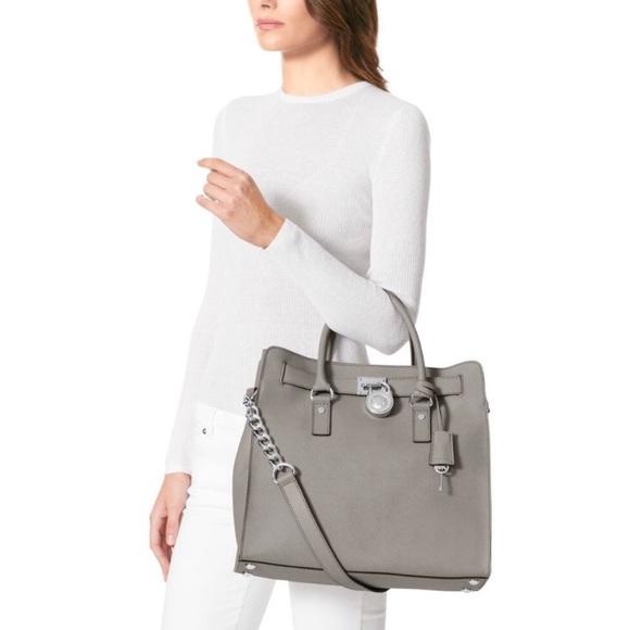 Michael Kors Handbags - Michael Kors Hamilton Grey Hamilton Handbag